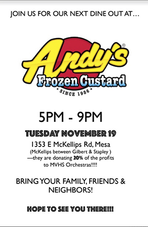 Dine Out Andy's Frozen Custard Flyer