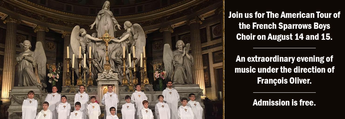 Join us for The American Tour of the French Sparrows Boychoir on August 14 and 15