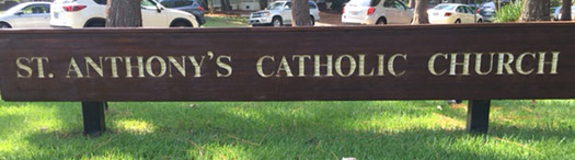 St. Anthony's sign