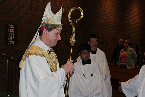 Our Bishop Michael Burbidge closing out the Year of Mercy at St. Anthony of Padua Church