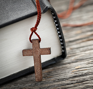 cross and scriptures