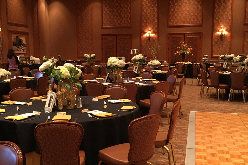 Gala room set up