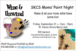 SKCS Moms' Paint Night flyer