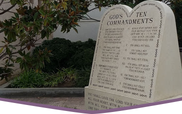 monument of Gods Ten Commandments