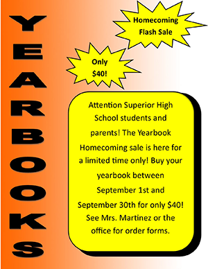 Yearbook Homecoming Flash Sale