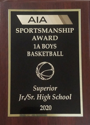 AIA Sportsmanship Award plaque