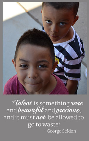 Talent is something rare and beautiful and precious, and it must not be allowed to go to waste. - George Seldon