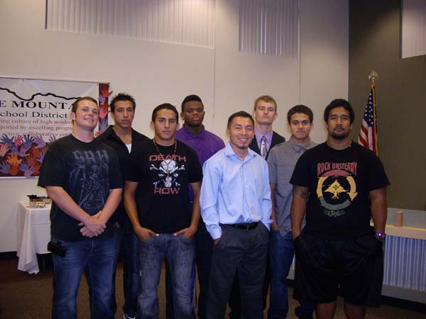 TVHS Phoenix Football Team State Honorees.