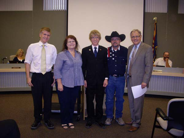 Eli Campbell, with family, places fourth in State American Legion Oratory Contest.