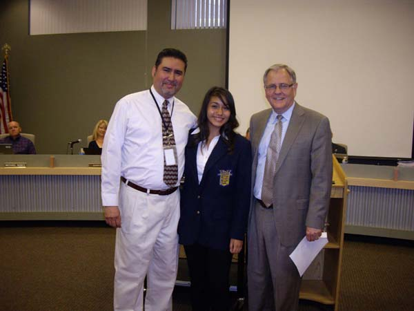 Alexis Orozco, with father, finished in 5th place in state Parliamentary Procedure for FBLA.