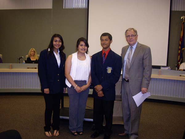 Alexis Orozco, Arlene Morales and Moises Tapia placed 5th in State FBLA Parliamentary Team Performance.