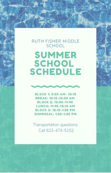 Summer School Hours