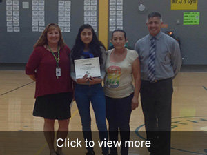 October Students of the Month Photos