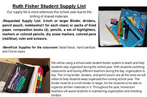 School Supplies Requested Flyer