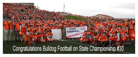 Congratulations Bulldog Football on State Championship #30!