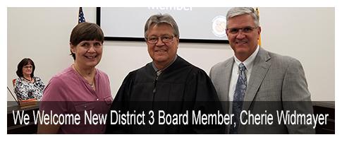 We welcome new District 3 Board Member, Cherie Widmayer