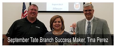 September Tate Branch Success Maker, Tina Perez