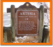 Artesia sign