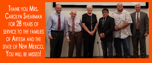 Thank you Mrs. Carolyn Shearman for 28 years of service to the families of Artesia and the state of New Mexico. You will be missed!