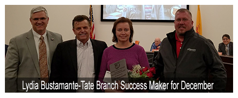 Lydia Bustamante-Tate Branch Success Maker for December