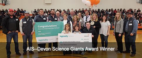 AIS--Devon Science Giants Award Winner