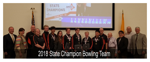 2018 State Champion Bowling Team