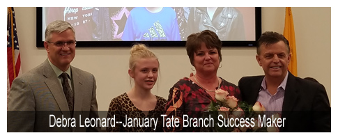 Debra Leonard--January Tate Branch Success Maker