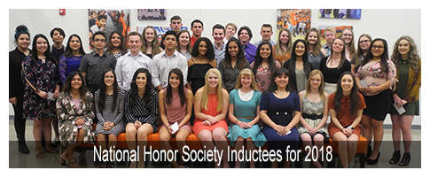 Sophomore Class National Honor Society Inductees for 2018