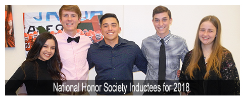 Junior Class National Honor Society Inductees for 2018