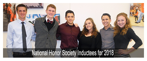 Senior Class National Honor Society Inductees for 2018