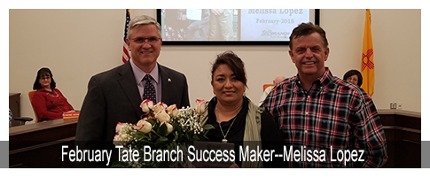 February Tate Branch Success Maker--Melissa Lopez