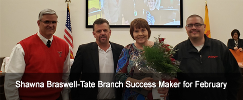 Shawna Braswell-Tate Branch Success Maker for February