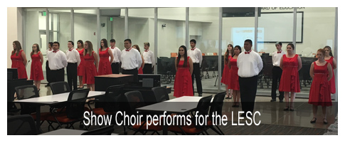 Show Choir performs for the LESC