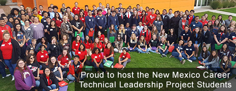 Proud to host the New Mexico Career Technical Leadership Project Students