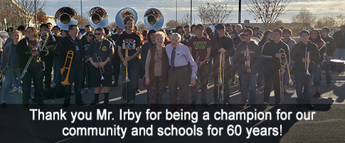 Thank you Mr. Irby for being a champion for our community and schools for 60 years!