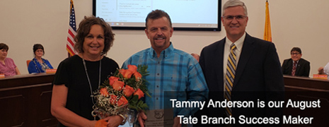 Tammy Anderson is our August Tate Branch Success Maker