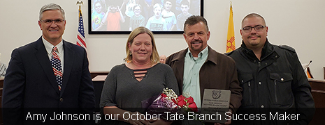Amy Johnson is our October Tate Branch Success Maker