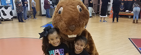 4-Grand Heights Girls with Mascot