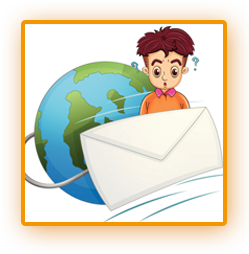 Globe and envelope clipart