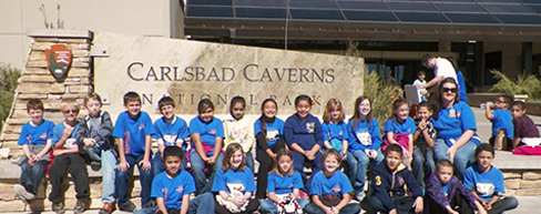 Students at Carlsbad Cavern National Park