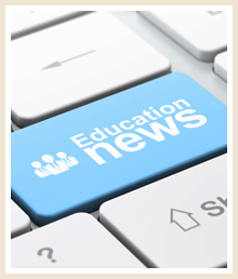 Education news keyboard key