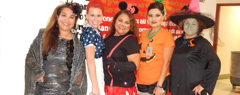 Teachers in costume