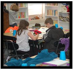 Students work on classwork