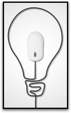 Lightbulb with a computer mouse inside