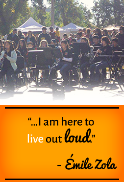 I am here to live out loud. —Émile Zola