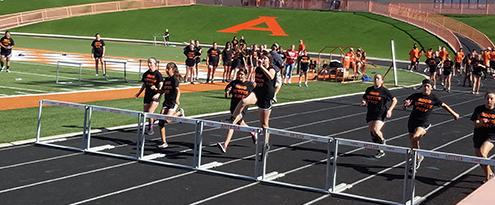 track meet girls hurdles