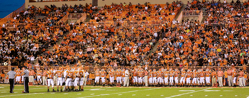Football Field and Crowd