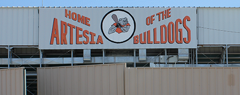 Home of the Bulldogs Sign