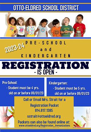 PreK and Kindergarten Registratoin information