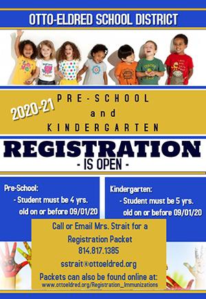 Pre-K and Kindergarten Registration flyer